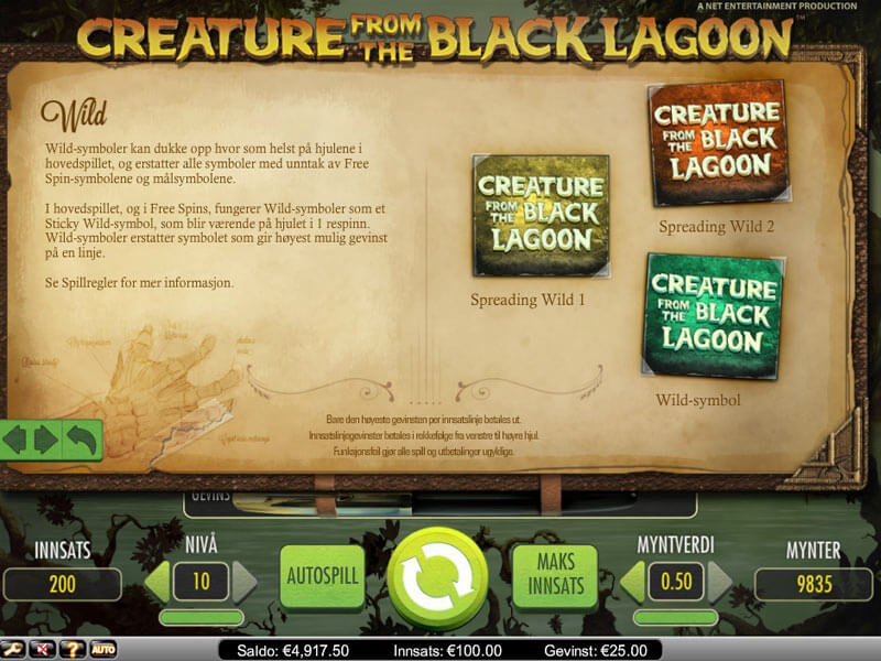 Creature from the Black Lagoon Automat - Norsk Netent Casino pГҐ Nett
