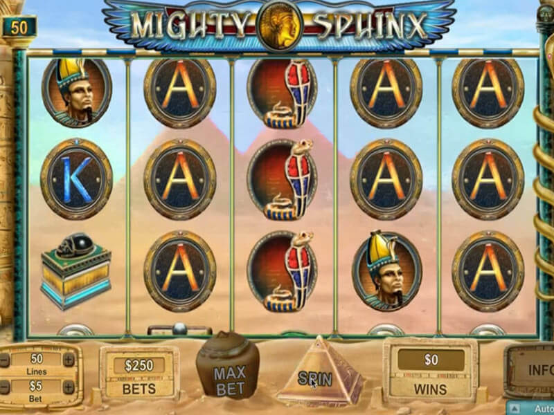 Mighty Sphinx gratis Spilleautomaten