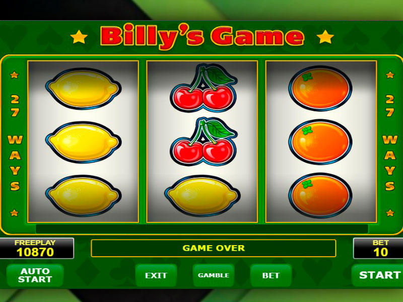 Billy's Game spilleautomat